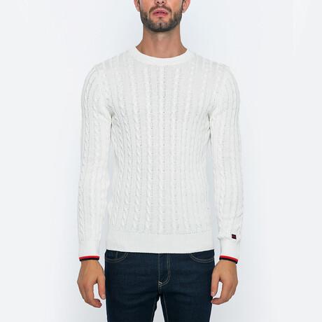 Grady Knit Pullover Sweater // Ecru (S)