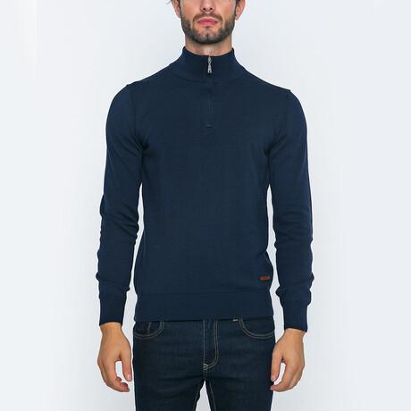 Darren Half-Zip Pullover // Navy (S)