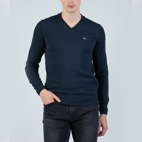 Niall V-Neck Pullover // Navy (S)