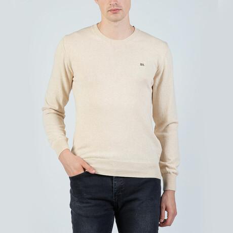 Louis Round Neck Pullover // Beige (S)