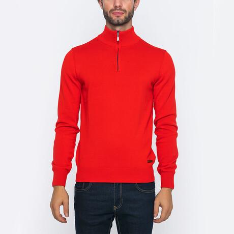 Calvin Half-Zip Pullover // Red (S)