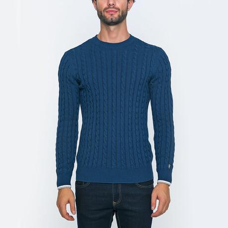Gerald Knit Pullover Sweater // Indigo (S)