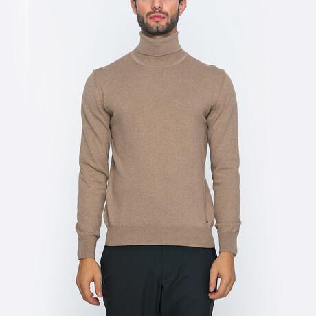Sean Turtleneck Sweater // Deep Beige (S)