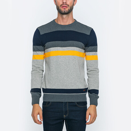 Harry Pullover // Antracite + Blue + Yellow (S)