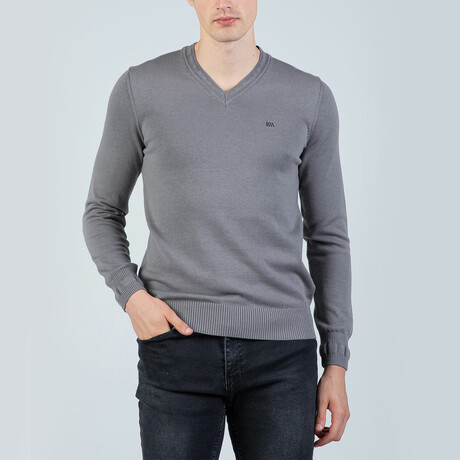 Marc V-Neck Pullover // Gray (S)