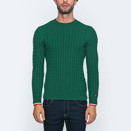 Domini Knit Pullover Sweater // Green (S)