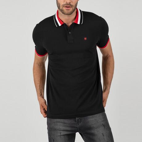 Lyon Short Sleeve Polo Shirt // Black (S)