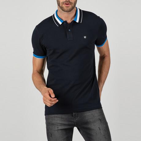 Marrakech Short Sleeve Polo Shirt // Navy (S)
