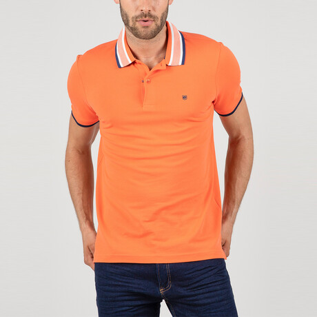Krakow Short Sleeve Polo Shirt // Salmon (S)