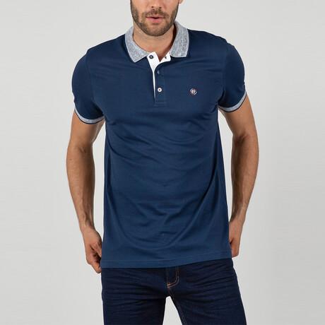 Ephesus Short Sleeve Polo Shirt // Navy (S)