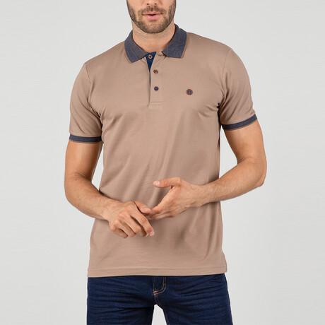 Florence Short Sleeve Polo Shirt // Brown (S)