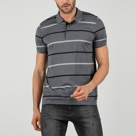 Madrid Short Sleeve Polo Shirt // Gray (S)