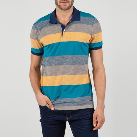 Rio Short Sleeve Polo Shirt // Oil, Yellow (S)