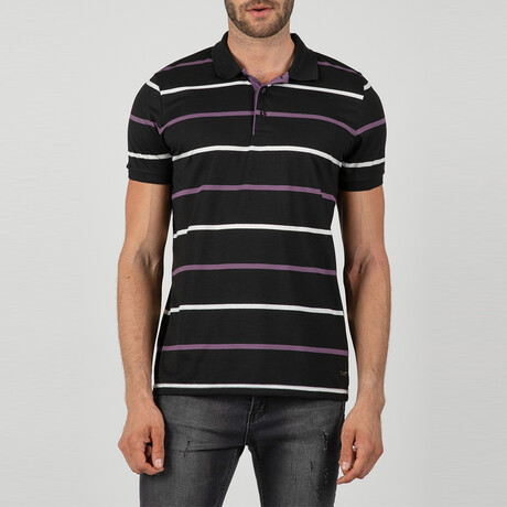 London Short Sleeve Polo Shirt // Black (S)