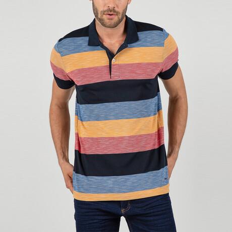 Berlin Short Sleeve Polo Shirt // Red, Yellow (S)