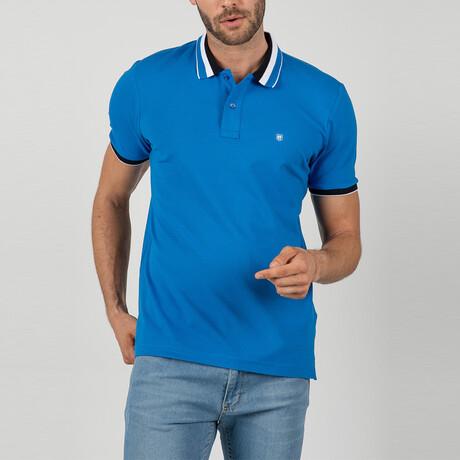 Montreal Short Sleeve Polo Shirt // Sax (S)