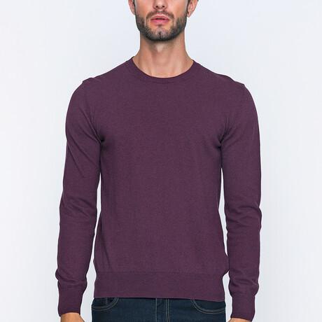 Parma Pullover Sweater // Bordeaux Melange (S)
