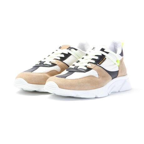 Ala Low Velour Ripstop Sneakers // Beige + White + Black (Euro: 40)