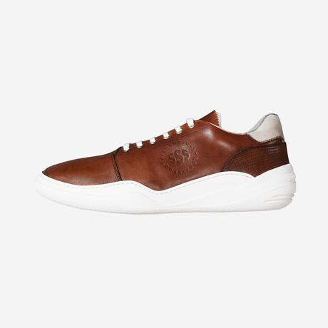 Salaria Low Sneakers // Brown Leather + White (Euro: 40)