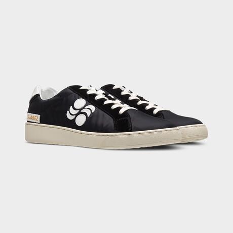 Suarez Low Bomber Vitello Moon Sneakers // Black (Euro: 40)