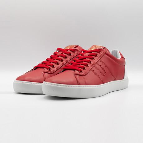Open Low Vitello Sneakers // Red (Euro: 40)