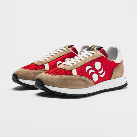 Touring Low Moon Sneakers // Red + Beige (Euro: 40)