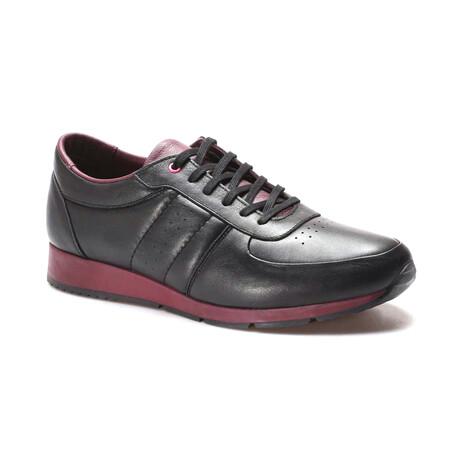 951MA555 Casual Shoes // Black + Claret Red (EU Size 40)