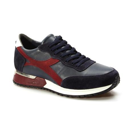 723MA1964 Sports Shoes // Claret Red + Blue (EU Size 39)