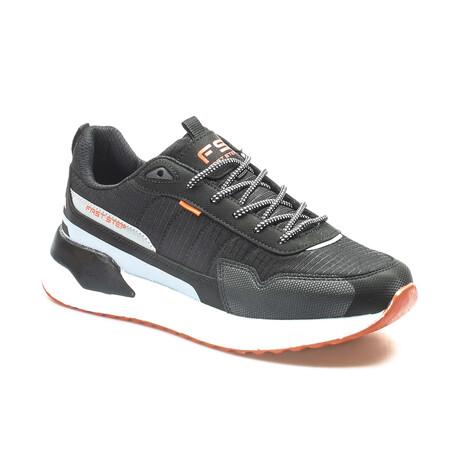 865MA5036 Sneakers // Black + Smoke + Orange (EU Size 40)