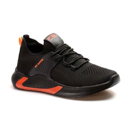 865MA5035 Sneakers // Black + Orange (EU Size 40)
