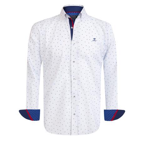 Nario Shirt // White + Navy (S)