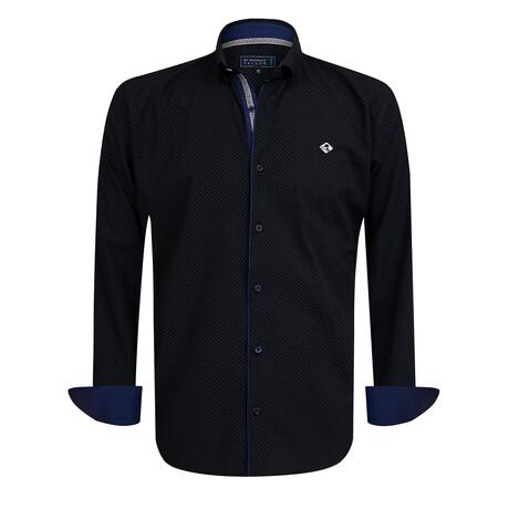 Cammeo Shirt // Navy + Gray (S)