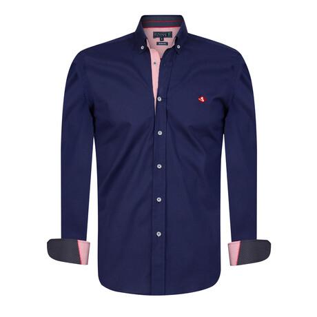 Doyle Shirt // Navy (XS)