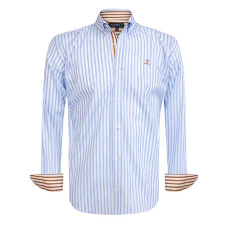 Giovani Shirt // Blue + White (S)