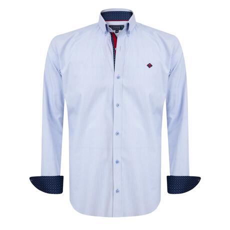 Brando Shirt // Blue + White (S)