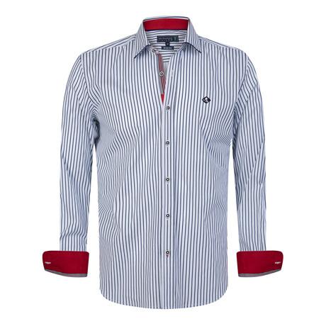 Tiziano Shirt // White + Navy (S)