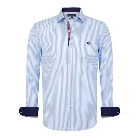 Tiziano Shirt // White + Blue (S)