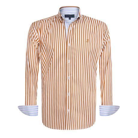 Giovani Shirt // Brown + White (S)