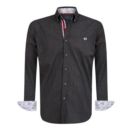 Brando Shirt // Black + Gray (S)
