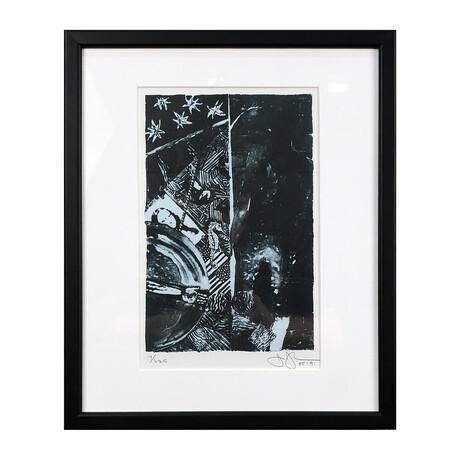 Jasper Johns // Summer // Blue // Offset Lithograph