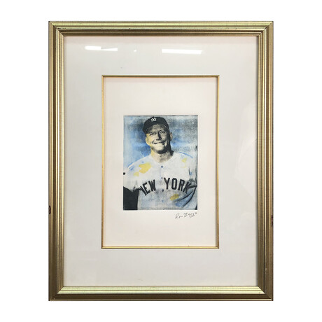 Ron Basca // Mickey Mantle // Signed Etching