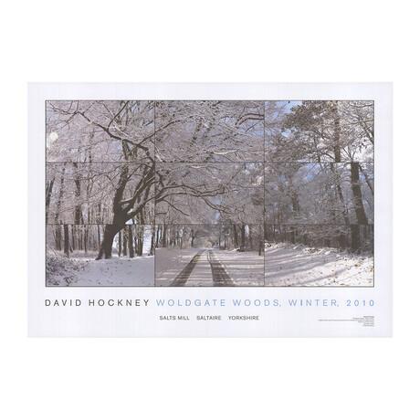 David Hockney // Woldgate Woods // Winter // 2010 Offset Lithograph