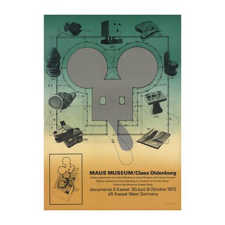 Claes Oldenburg // Maus Museum // 1972 Offset Lithograph