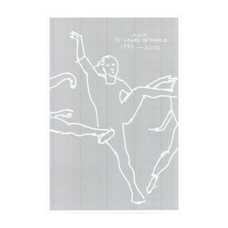 Alex Katz // 75 Years of Dance // 2008 Lithograph