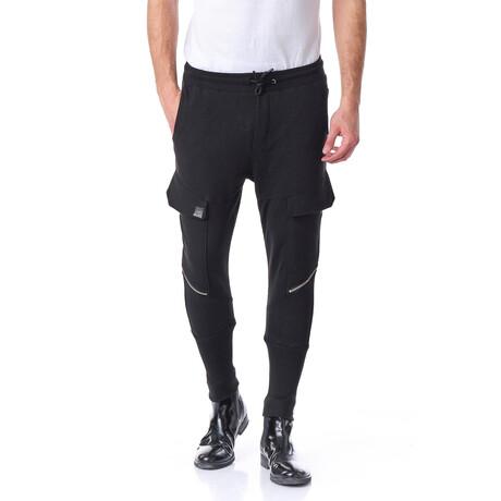 2548 Sport Zippered Joggers // Black (S)