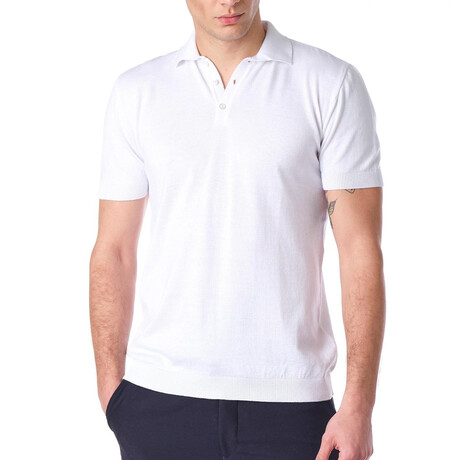 6179 Fitted Polo Shirt // White (S)