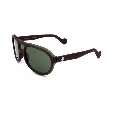 Unisex ML0055-48N Sunglasses // Shiny Dark Brown