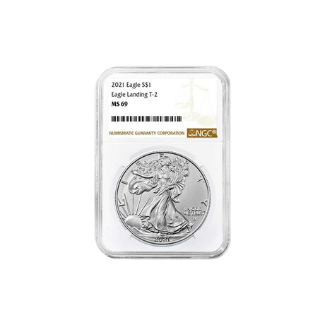 2021 1 oz American Silver Eagle // Type 2 // NGC Certified MS69 // Deluxe Collector's Pouch