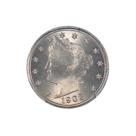 1903 Liberty Head Nickel // PCGS Certified MS64 // Wood Presentation Box