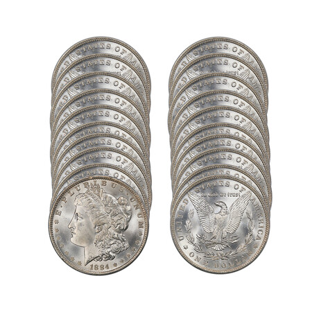 Roll of 20 Morgan Silver Dollars// 5+ Different Dates from 1878 to 1904 // Brilliant Uncirculated Condition